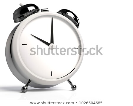 Alarm clock on white background. 10 O'Clock, am or pm. 3D render Stock photo © Nobilior