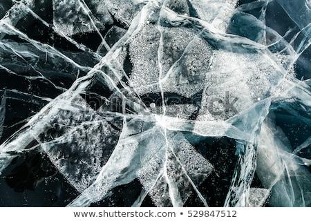 Kék jég textúra kő absztrakt tél Stock fotó © vapi