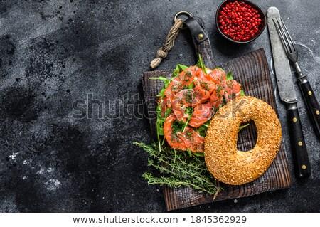 avokádó · szendvics · paradicsomok · finom · étel · kenyér - stock fotó © yuliyagontar