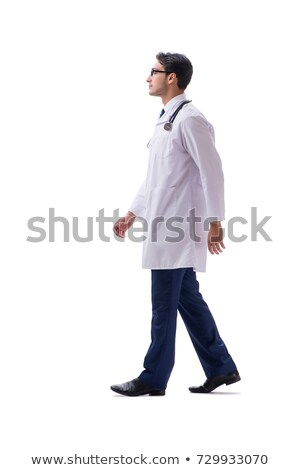 Young doctor physician standing walking isolated on white backgr Stock photo © Elnur