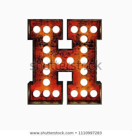 H betű 3D Broadway stílus magas minőség Stock fotó © creisinger