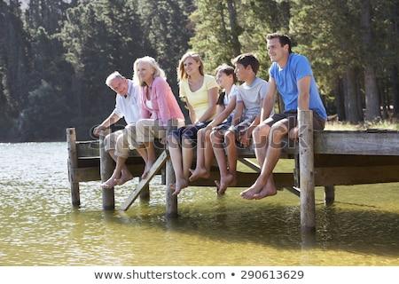 Man kleinzoon meer baby natuur rivier Stockfoto © IS2