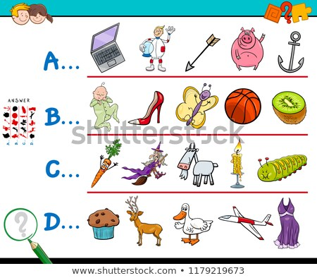 English worksheet for words starting with I Stock photo © bluering