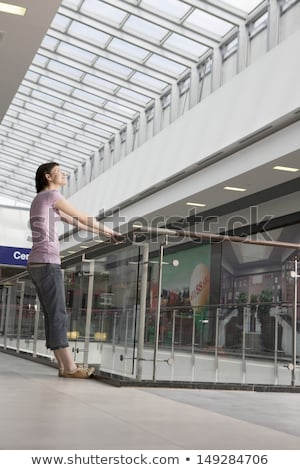 Young woman leaning on railing Stock photo © IS2
