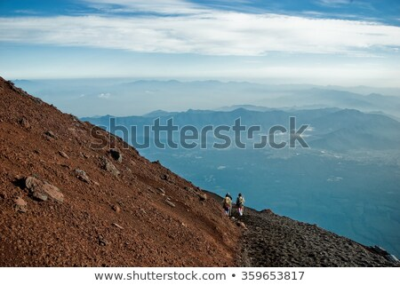 sunrise on mount fuji ii stock photo © craig