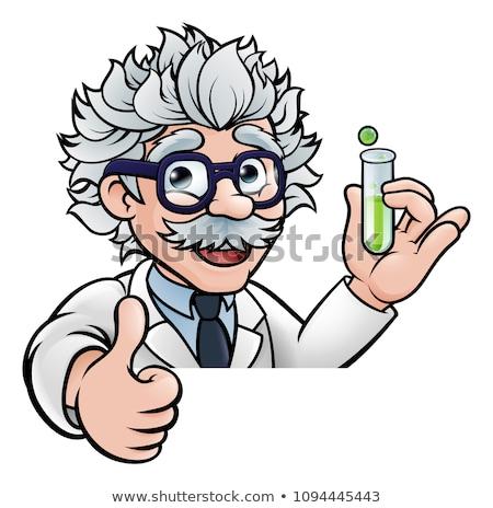 Cartoon wetenschapper reageerbuis hoogleraar Stockfoto © Krisdog
