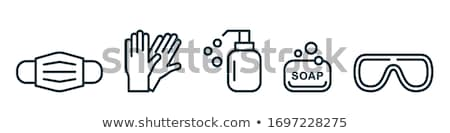 Rubberen handschoenen nieuwe geïsoleerd witte schone doek Stockfoto © scenery1