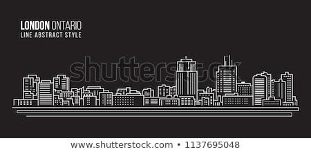 Londres · linha · do · horizonte · panorama · ilustração · inglaterra · Tower · Bridge - foto stock © blamb