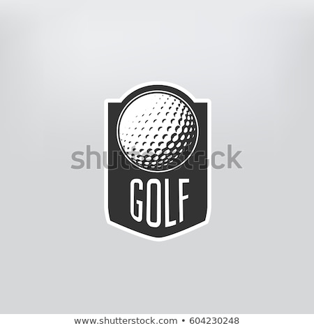 Golf tournament emblem or label -  golf ball on retro sticker Stock photo © gomixer