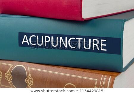 Kitap başlık akupunktur yazılı omurga hastane Stok fotoğraf © Zerbor