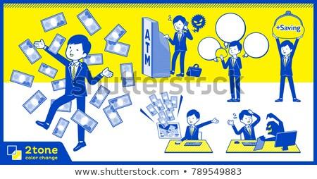 öltöny 12 üzlet férfiak kék Stock fotó © toyotoyo