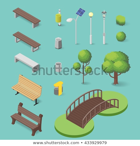 Szett város park elemek modern vektor Stock fotó © Decorwithme