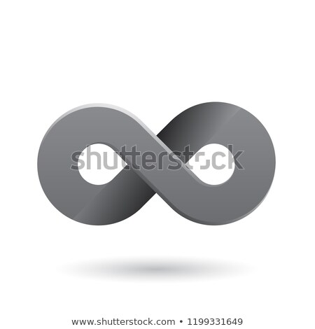 Grey Shaded and Thick Infinity Symbol Vector Illustration Stock photo © cidepix