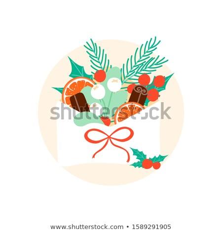 Stockfoto: Rood · oranje · brief · stick · vector · illustratie