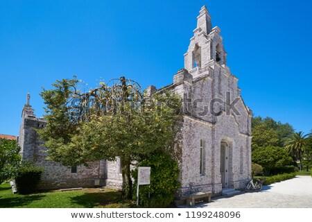 La île chapelle mer obus galice Photo stock © lunamarina