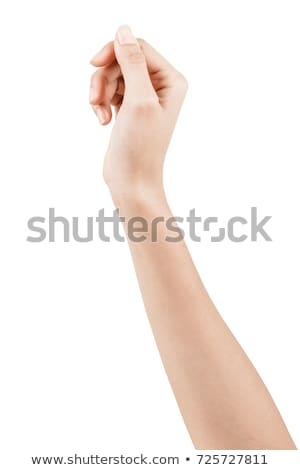 Foto stock: Feminino · mão · ajudar · assinar · papel