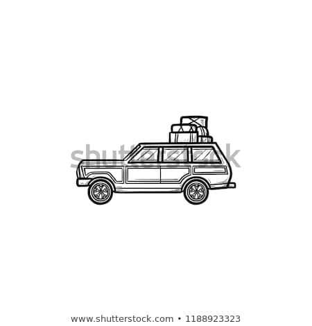 handlowych · pojazd · biały · działalności · rodziny - zdjęcia stock © rastudio