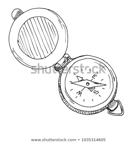 Compass wind rose hand drawn outline doodle icon. Stock photo © RAStudio