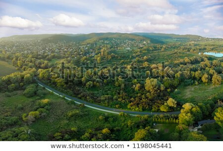 Aerial Agricultural Picture From A Hungarian Landscape Near The Lake Balaton Stock photo © Digoarpi