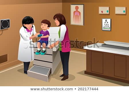 Blessés Kid médecin bureau illustration médicaux Photo stock © artisticco