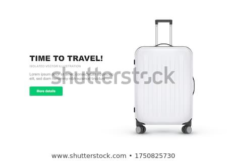 Realistyczny walizkę bagaż turystyki odizolowany biały Zdjęcia stock © smeagorl