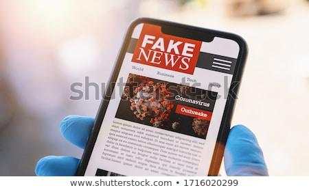 человека газета поддельный Новости Сток-фото © AndreyPopov
