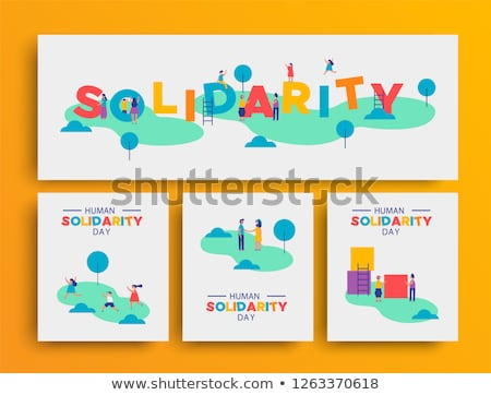 Menselijke solidariteit dag mensen gemeenschap park Stockfoto © cienpies