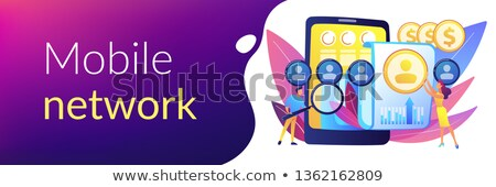 Mobile expense management concept banner header. Stock photo © RAStudio