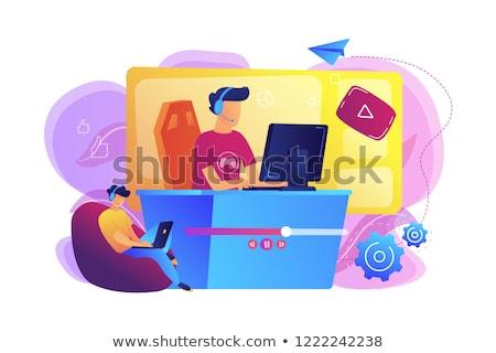 Gioco in streaming vivere online videogioco giocare Foto d'archivio © RAStudio