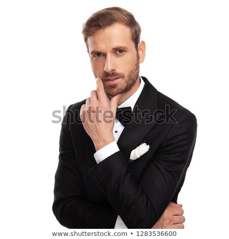 Portret verleidelijk zakenman permanente witte Stockfoto © feedough