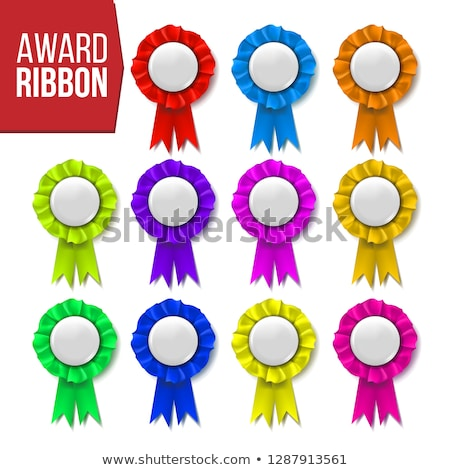 Attribution ruban vecteur certificat bannière Photo stock © pikepicture