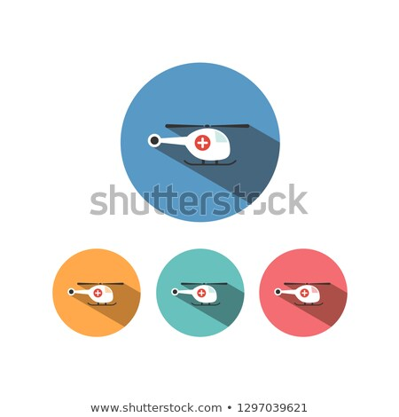 Emergency helicopter icon with shade on colored circles Stock photo © Imaagio