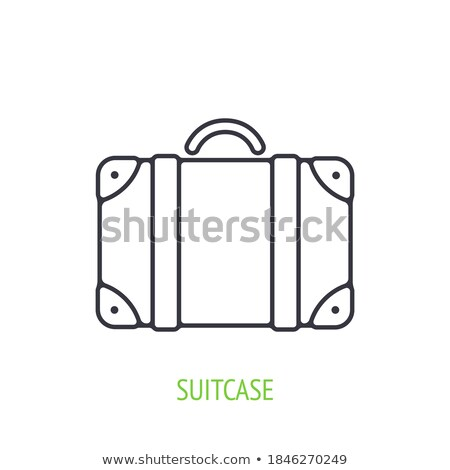 Luggage Time to Travel with Valise Icon Vector Stock photo © robuart