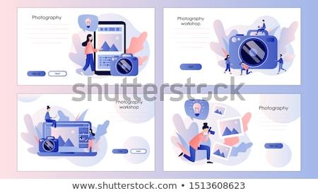 ワークフロー · 着陸 · テンプレート · ビジネス · プロセス - ストックフォト © rastudio