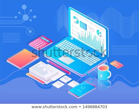 calculadora · gobernante · papel · libro · página - foto stock © robuart