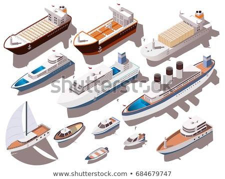 Vitorla csónak fehér vászon vitorlázik mély Stock fotó © robuart