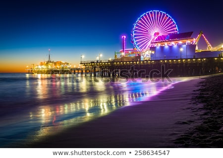 ferris wheel on santa monica pier stock photo © andreypopov