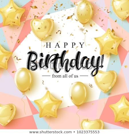 お誕生日おめでとうございます カード 挨拶 文字 抽象化 ベクトル ストックフォト © robuart