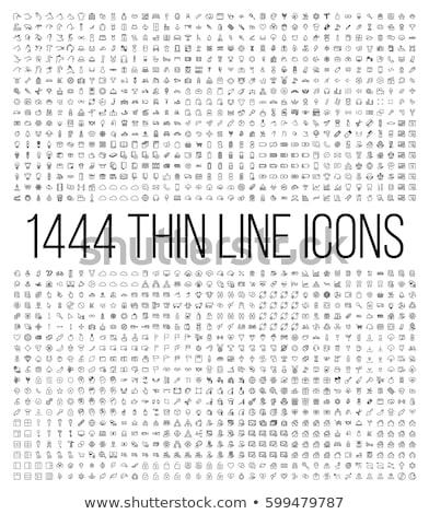 Animal Line Icons Set Stock photo © Voysla