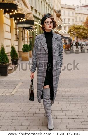 French style brunette lady in midi dress. Stock photo © NeonShot