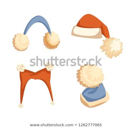 mikulás · ruházat · gyűjtemény · nő · tél · öltöny - stock fotó © robuart