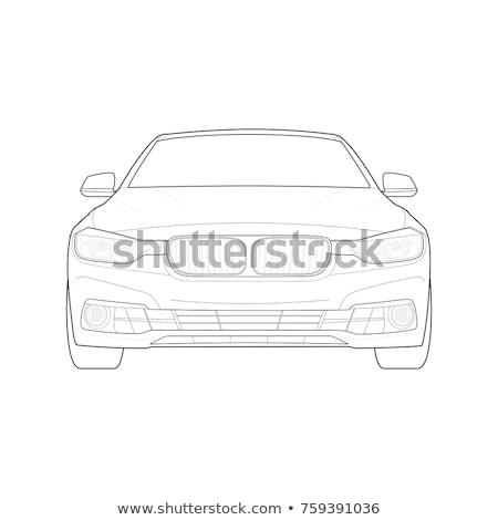 Vektör araba son yalıtılmış beyaz Stok fotoğraf © dashadima