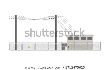 Energy And Electrical power station. Technology and industry emblem. Stock photo © Glasaigh