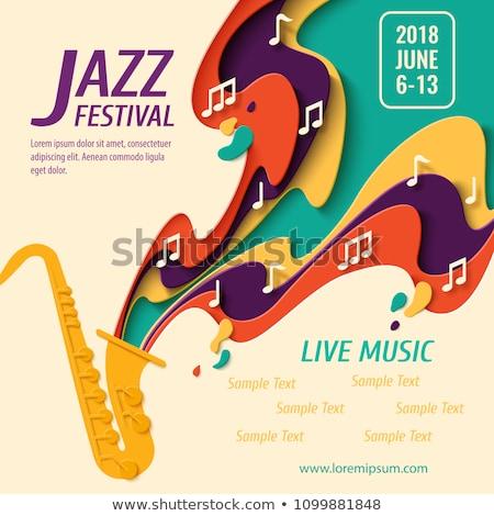 Międzynarodowych jazz dzień retro plakat żyć Zdjęcia stock © cienpies