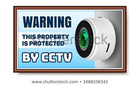 Cordless Supervision Safeguard Cctv Camera Vector Stock photo © pikepicture