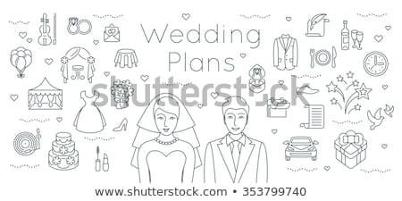 Casamento planejamento noiva noivo compromisso vetor Foto stock © robuart