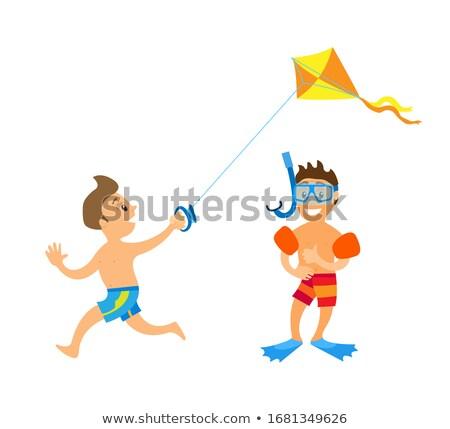 çocuk özel dalış yaz Stok fotoğraf © robuart