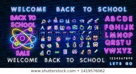 Back to School Neon Concept Stock photo © Anna_leni