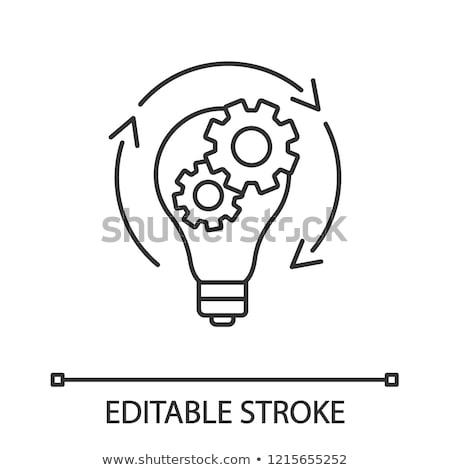 Generation Ideas Cogwheel and Lightbulb Vector Stock photo © robuart