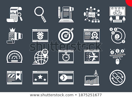airplane related vector glyph icon stock photo © smoki